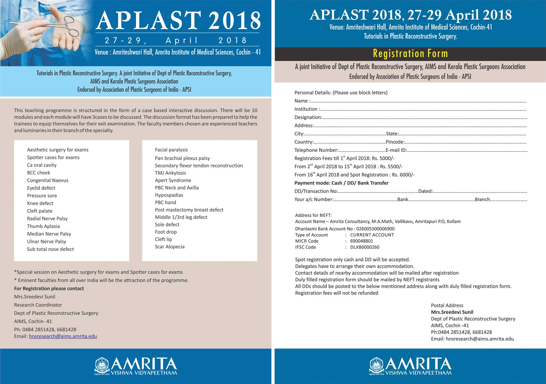 APLAST 2018 (APSI only Full Members will get 15% discount on registration fees of this conference)