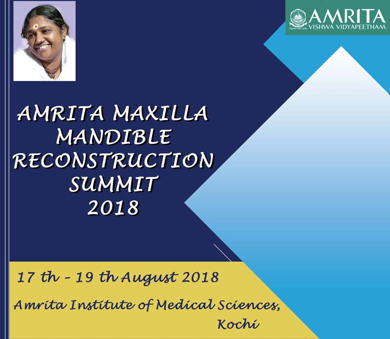 Amrita Maxilla Mandible Reconstruction Summit 2018